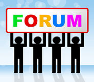 Forum Forums Means Social Media And Network. Forum Forums Indicating Social Media And Network Royalty Free Stock Image