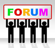 Forum Forums Represents Social Media And Website Stock Photography