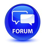 Forum glassy blue round button Royalty Free Stock Image