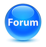 Forum glassy cyan blue round button. Forum isolated on glassy cyan blue round button abstract illustration Royalty Free Stock Photography