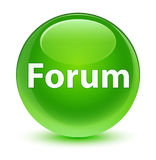 Forum glassy green round button. Forum isolated on glassy green round button abstract illustration Stock Image
