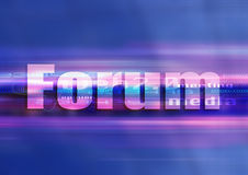 Forum graphic technology. Internet symbol forum in a graphic univers Stock Images