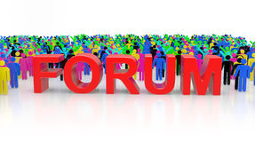 Forum Group Discussion Royalty Free Stock Images
