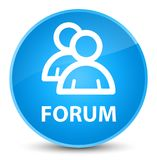 Forum (group icon) elegant cyan blue round button Royalty Free Stock Image