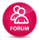 Forum (group icon) elegant pink round button Royalty Free Stock Images