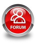 Forum (group icon) glossy red round button Royalty Free Stock Photo
