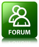 Forum (group icon) green square button Royalty Free Stock Photography