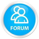 Forum (group icon) premium cyan blue round button Royalty Free Stock Image