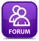 Forum (group icon) special purple square button Royalty Free Stock Images
