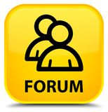 Forum (group icon) special yellow square button Royalty Free Stock Photos