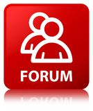 Forum (group icon) red square button Stock Photography