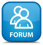Forum (group icon) special cyan blue square button Royalty Free Stock Photography