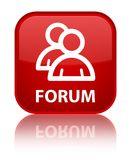 Forum (group icon) special red square button Royalty Free Stock Photography