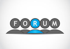 Forum group Royalty Free Stock Photo