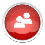 Forum icon. A large red blog icon in three d Stock Photography