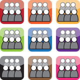Forum Icons Royalty Free Stock Photos
