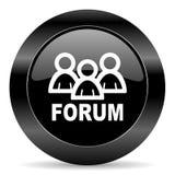 forum ikona Zdjęcie Royalty Free