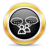 forum ikona Obrazy Stock