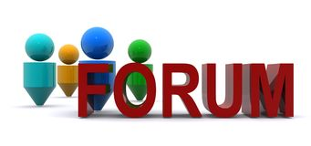 Forum illustration Stock Images