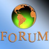 Forum illustration. Cork textured forum illustration for web pages Stock Photo