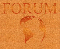 Forum illustration on corkboard Stock Image