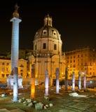 Forum impérial à Rome Image libre de droits