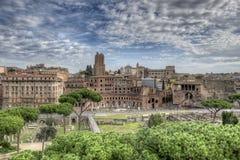 Forum imperiali a Roma Immagini Stock Libere da Diritti