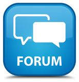 Forum special cyan blue square button. Forum isolated on special cyan blue square button abstract illustration Royalty Free Stock Image