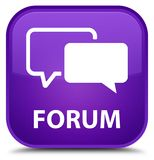 Forum special purple square button. Forum isolated on special purple square button abstract illustration Royalty Free Stock Images