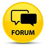 Forum special yellow round button Royalty Free Stock Photo