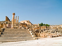 The Forum in Jerash, Jordan. Stock Images