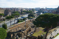 The Forum of Julius Caesar in Rome Stock Images