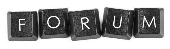 Forum - keyboard keys Royalty Free Stock Image