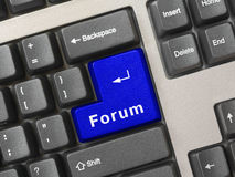 forum komputerowa klucza klawiatura Obrazy Stock