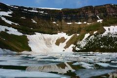 Forum Lake. Akamina-Kishinena Provincial Park, ice break up on Forum Lake Royalty Free Stock Photo