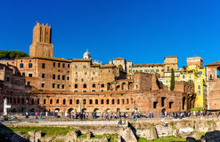 Forum and market of Trajan in Rome Royalty Free Stock Photo