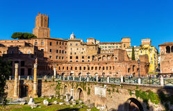 Forum and market of Trajan in Rome Royalty Free Stock Image