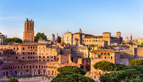 Forum and market of Trajan in Rome Royalty Free Stock Images