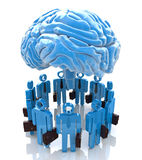 Forum Mind. In the design of the information associated with an abstraction of the mind Royalty Free Stock Images