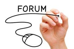 Forum myszy pojęcie obraz stock