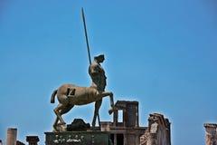 Forum nel sito archeologico di Pompei Immagine Stock Libera da Diritti