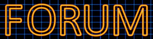 Forum neon sign. Abstract 3d rendered words forum orange neon sign on blue wire background Royalty Free Stock Photography