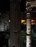 Forum of Nerva at night in Rome Stock Image