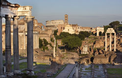 Forum Overview Center Road Rome Italy Stock Images