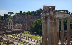 Forum Overview Rome Italy Royalty Free Stock Photos
