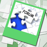 Forum Photo Means Online Networks And Chat Royalty Free Stock Images