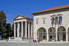 Forum place in Pula Stock Images
