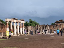 Forum, Pompeii, Italy Royalty Free Stock Photography