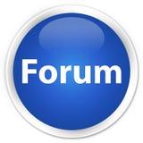 Forum premium blue round button. Forum isolated on premium blue round button abstract illustration Royalty Free Stock Image