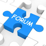 Forum Puzzle Shows Online Community Chat Stock Image